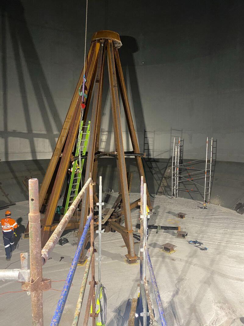 Grain silo conversion to handle storage of cement 3