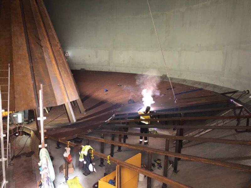 Grain silo conversion to handle storage of cement 4