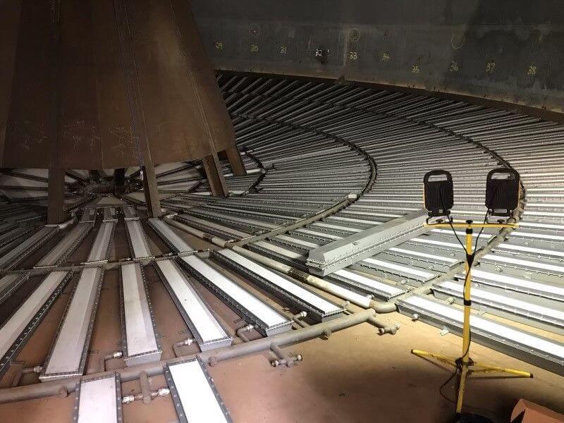 Grain silo conversion to handle storage of cement 5